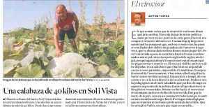 El Tapias amb la carbassa al Diari de Tarragona